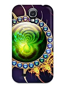 Anti-scratch And Shatterproof Green Liquid Inside Phone Case For Galaxy S4/ High Quality Tpu Case