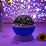 RNAZLIS®Star Master Projector Night lamp and Rotating 4 Mode Sky Star Master Mini Projector Lamp for Kid's Room Decor