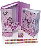 Butterly Gift Idea for Girls Boxed Children's Notebook and Stationery Gift Set - Small
