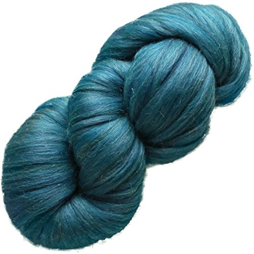 EASY SPINNING FIBER - Learn Spinning in a Jiffy. Pre-Drafted Pencil Roving. Luxuriously Soft Silk Merino, (Roving Fiber)