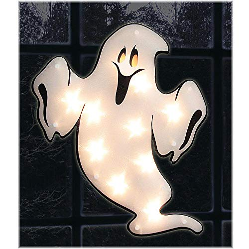 - Halloween Shimmer Lighted Window Ghost
