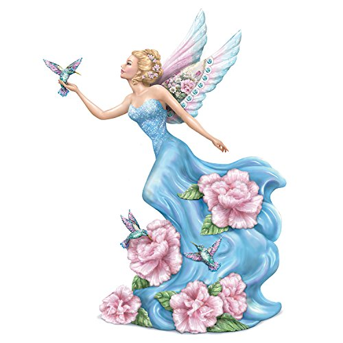 The Hamilton Collection Lena Liu Whispers of Brilliance Fairy Figurine with Glitter:by