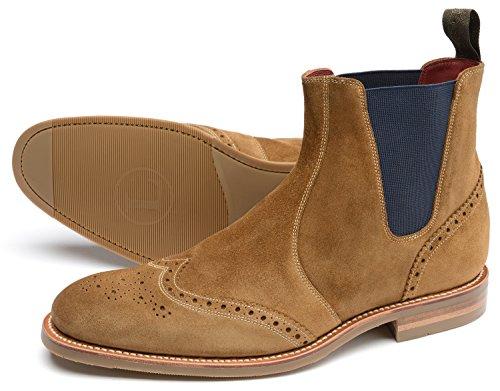 Loake Herren Chelsea Boots Braun - Tan Suede