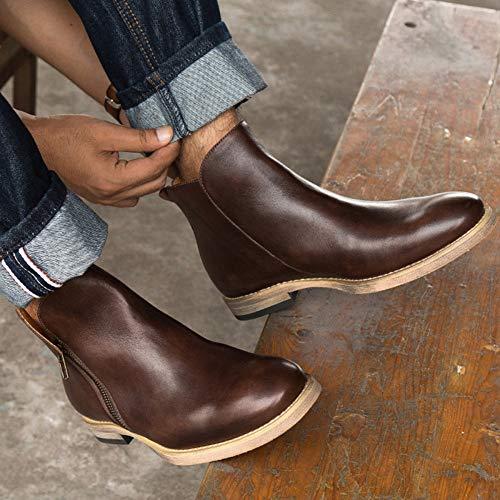 Vintage Matrimonio Stivali Uomo Casual Classico Pelle Brown3 Stivali Utensili snfgoij Chelsea Sicurezza Brogue Moda Martin Boots pvqE8SI