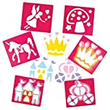 Fairy Themed Stencils for Children Create Decorate and Personalise Scenes and Collages (Pack of 6)