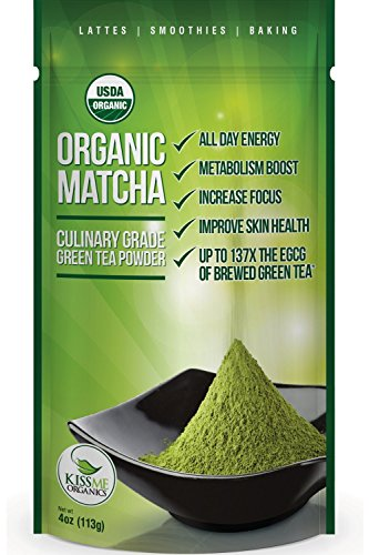 Matcha Green Tea Powder - Powerful Antioxidant - Japanese Organic Culinary Grade Matcha - 4 oz (113 grams) - Increases Energy and Focus - Naturally Supports Weight Loss Goals and Healthy (How To Make A Cigarette Holder)