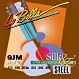 LaBella GJM-BE Gypsy Jazz Silk & Steel Acoustic Guitar Strings, Medium
