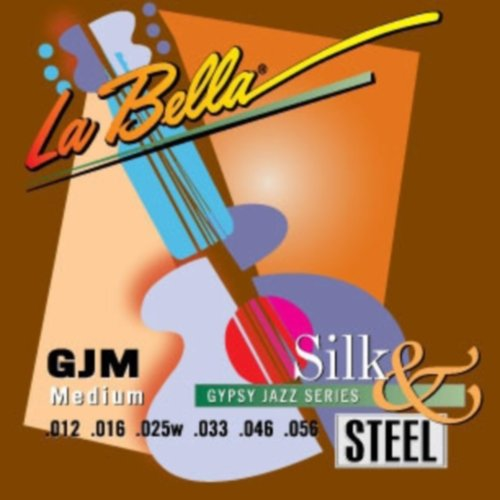 Gypsy Jazz Guitar Scales - LaBella GJM-BE Gypsy Jazz Silk & Steel Acoustic Guitar Strings, Medium