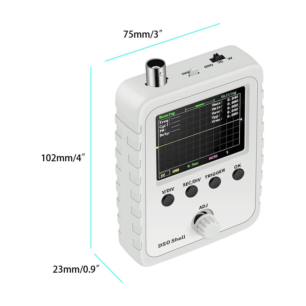 Mini Oscilloscope Digital Oscilloscope Kit With Auto//Normal//Single Trigger Mode With Digital Display With Waveform Parameter
