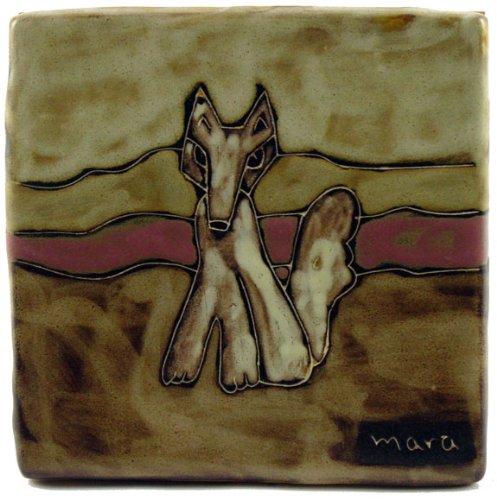 - Mara Ceramic Stoneware 6 Inch Coyote Trivet (Tile)
