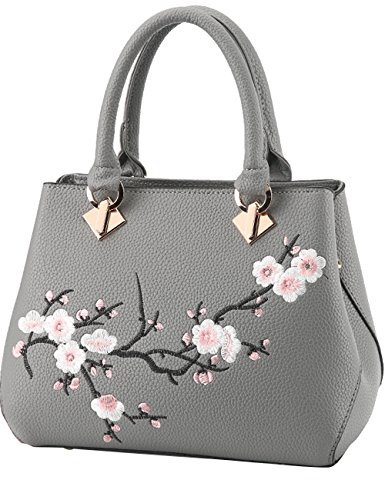 Leather Bandoulière Noir Purse Sac Ladies Pu Gris Grand Womens Menschwear À ECOqff