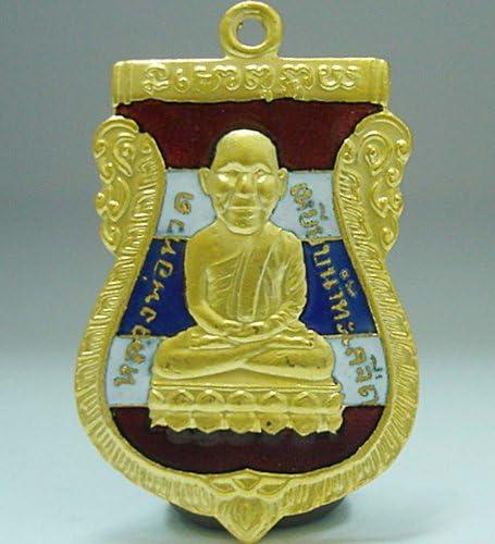 Thai Amulet Buddhist Legend monk LP Thuad figurine Brass Protect Lucky