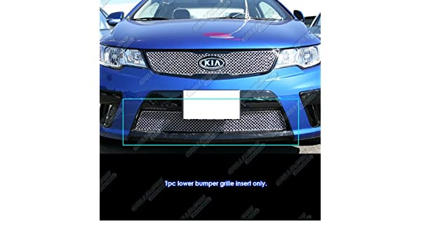 Fits 2010-2013 Kia Forte Koup Bumper Stainless Steel X Mesh Grille Grill Insert