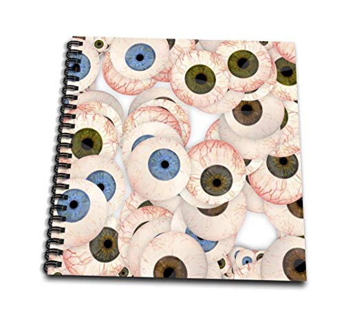 (3dRose Eyeball Collection-Mini Notepad, 4 by 4