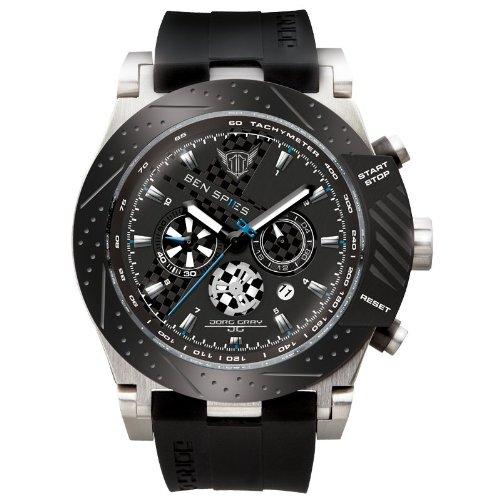 Jorg Gray Men's JG6700-11 Analog Display Quartz Black Watch