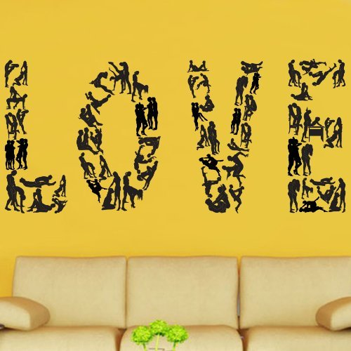 Kult Kanvas Banksy Style Love Sex Decal Vinyl Wall Sticker (BAN76) XL 120cm x 264cm White by Kult Kanvas