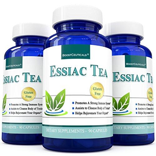 Capsules de thé Essiac huit herbes supplément 90 comte