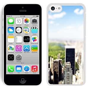 NEW Unique Custom Designed Case For Iphone 5/5S Cover Phone Case With New York Central Park Tilt Shift_White Phone Case