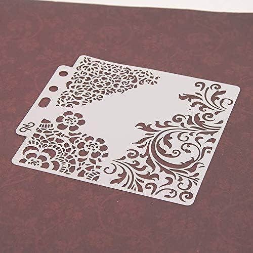 wei/ß ZengBuks S53 Mehrzweck-Schattenzeichnungsmaske Hohles Muster Spritzbretter Masking Spray Template Schichtung Schablonen Home Paint Decor