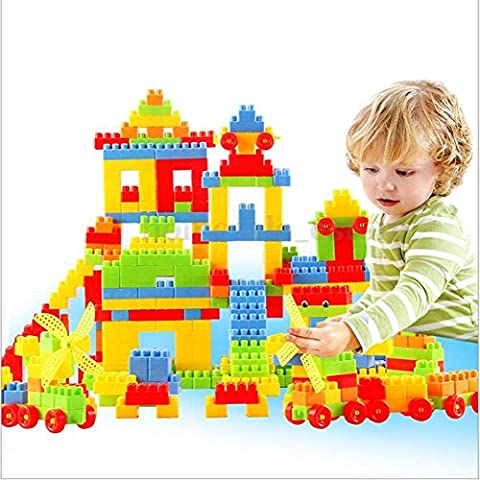 Parit 80Pcs Puzzle Educational Plastic Children Kid Gift Building Blocks Bricks Toy Animal - Case Front End Loaders