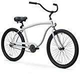 sixthreezero Men's In The Barrel 1-Speed 26-Inch Beach Cruiser Bicycle, Cool Gray