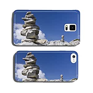 Cairn in the mountains cell phone cover case Samsung S6