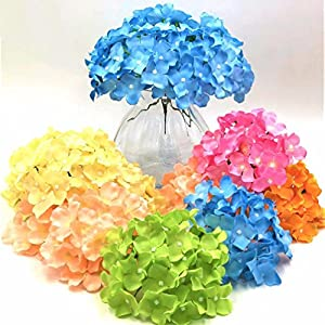 5pcs/pack Amazing colorful decorative flowers artificial Hydrangea silk DIY 99