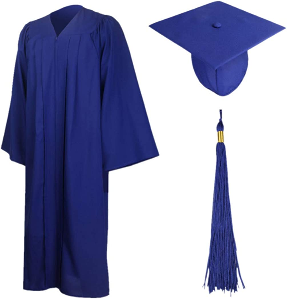 """Large//Thick Light Blue White Class of 2018 With Gold Charm Graduation Tassel 9/"""""""