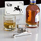 Whiskey Stones (Set Of 8 Pcs) - Stainless Steel Reusable Ice Cubes for Whiskey. And 2 Bonuses Included: BPA-Free Tray And Tongs by Good Drink