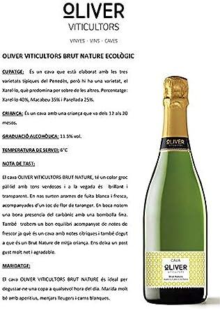 CAVA SADURNÍ OLIVER BRUT NATURE RESERVA(CAJA 6 BOTELLAS) DEGÜELLE RECIENTE: Amazon.es: Alimentación y bebidas