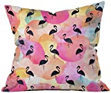 Deny Designs Hello Sayang Throw Pillow, Dance Like a Flamingo