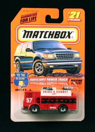 Matchbox 1998 To The Rescue Auxiliary Power Truck Red 21