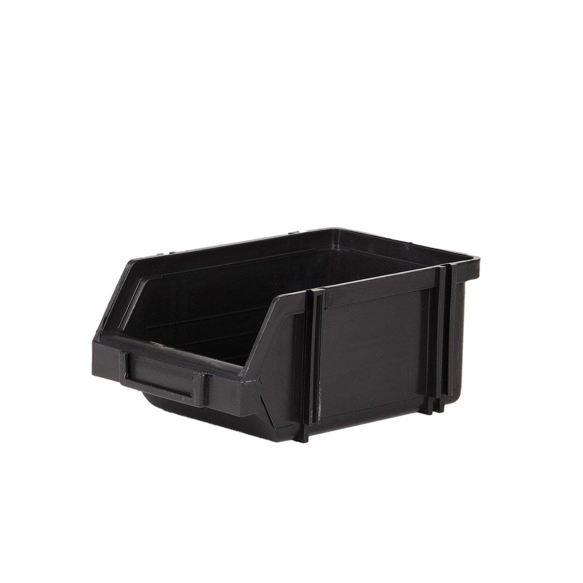 1 scatola impilabile da 1 litro, misura 1, scatola impilabile, scatola portaoggetti, nero myBoxshop