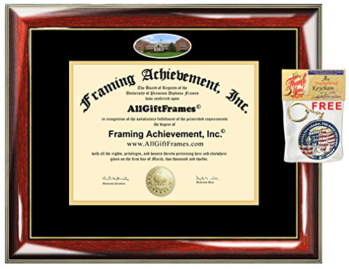 (UMUC Diploma Frame University of Maryland University College Degree School Fisheye Picture Custom Frames Certificate Double Mat Framing Graduation Gift Campus Bachelor Master Doctorate PHD)