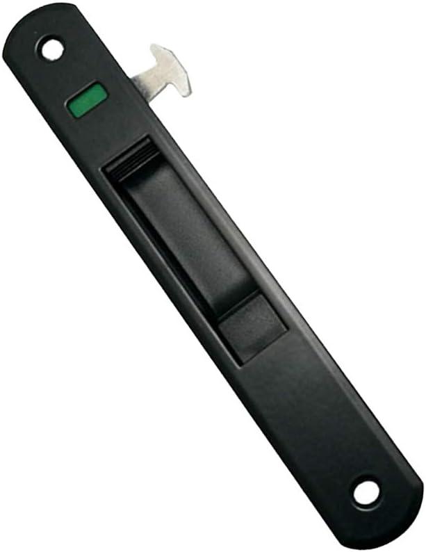 Gmxop - 1 pieza para puerta corredera, manilla de ventana, candado, gancho estilo empotrado, aleación de cinc, Negro , medium