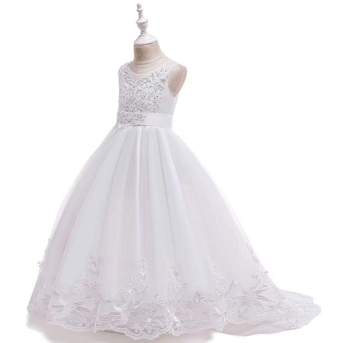 Princess Dress for Girls Pageant Formal Wedding Bridesmaid Special Occasion Gown