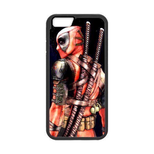 Fayruz- Personalized Protective Hard Textured Rubber Coated Cell Phone Case Cover Compatible with iPhone 6 & iPhone 6S - Deadpool Superhero F-i5G756