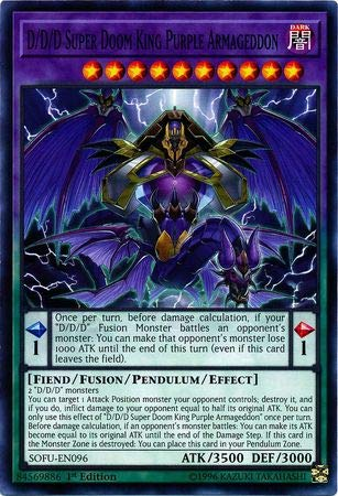 Yu-Gi-Oh! - D/D/D Super Doom King Purple Armageddon - SOFU-EN096 - Common - 1st Edition - Soul Fusion (Doom Card)