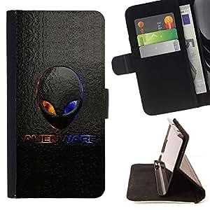 For Samsung ALPHA G850 Case , Extranjero Logo- la tarjeta de Crédito Slots PU Funda de cuero Monedero caso cubierta de piel