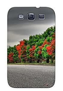 Protective Tpu Case With Fashion Design For Galaxy S3 (landscapes Autumn (season) Seasons Roads )