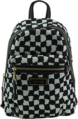 Juicy Couture Nouvelle Pop Nylon Backpack, Black/ White (Zip Back Nouveau)
