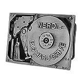 Buckle Rage Adult Unsiex Nerd Equals Big Hard Drive Computer Belt Buckle Silver
