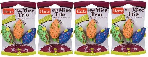 Picture Hartz Mini Mice Trio Cat Toys 3 in a pk (Pack of 4) 12 Total