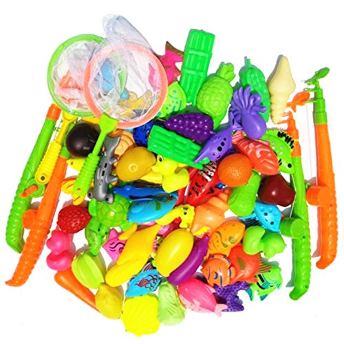 Outdoor Games And Fun (69 Pieces Magnetic Fishing Toy Outdoor Fun Fishing Game Baby Learning & Education Gift Bath Toys Set)
