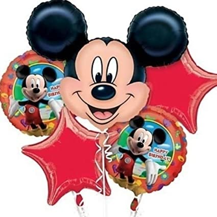 Amazon.com: Disney Mickey Balloon Fiesta de cumpleaños Favor ...