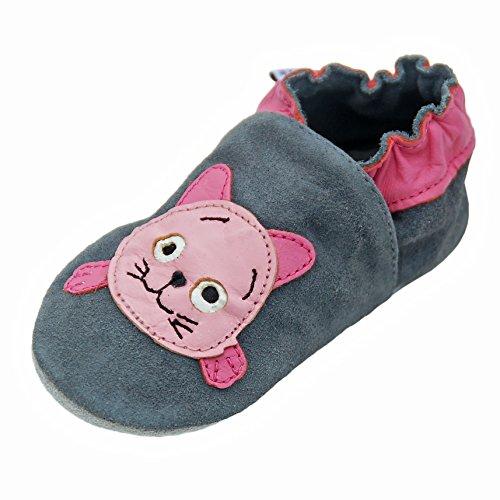 05360f73 Zapatillas De Cuero Pantuflas Zapatos Infantiles Zapatos de gateo ...