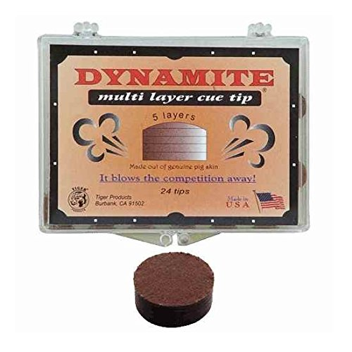 Single Tiger Dynamite 14 mm Medium Hard Pigskin Cue Tip