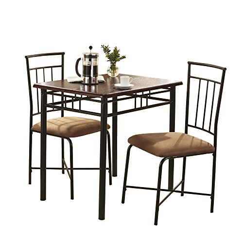 Mainstays 3 Piece Wood and Metal Dining Set by Mainstays