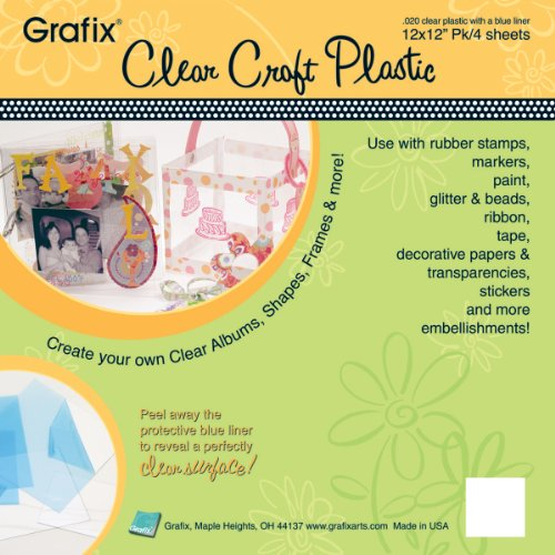 12 X 12 Acetate - Grafix Craft Plastic Sheets 12