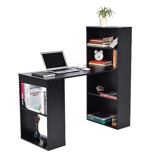 lyrlody Mesa de Ordenador PC o Escritorio con Estanteria, Mesa ...